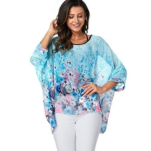 Vintage Chiffon Plus Size Top - Men & women apparel, Women's swimwear, men's shirts and tops, Women jumpsuits and rompers, women spring fashion
