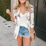 Women's Floral Print Blazer - Men & women apparel, Women's swimwear, men's shirts and tops, Women jumpsuits and rompers, women spring fashion