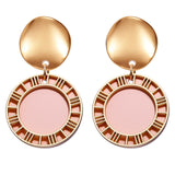 Round Dangle Fashion Earrings - Men & women apparel, Women's swimwear, men's shirts and tops, Women jumpsuits and rompers, women spring fashion