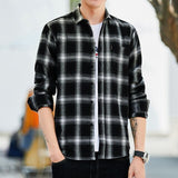 Casual Long Sleeve Plaid Shirt - Men & women apparel, Women's swimwear, men's shirts and tops, Women jumpsuits and rompers, women spring fashion