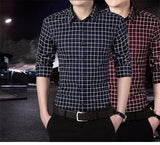 Men Casual Plaid Shirt - Men & women apparel, Women's swimwear, men's shirts and tops, Women jumpsuits and rompers, women spring fashion