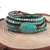 Natural Stones Wrap Bracelet - Men & women apparel, Women's swimwear, men's shirts and tops, Women jumpsuits and rompers, women spring fashion