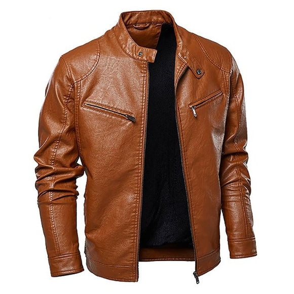 Men's Leather Motorcycle Jacket - Men & women apparel, Women's swimwear, men's shirts and tops, Women jumpsuits and rompers, women spring fashion