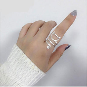 Cute Sterling Silver Cat Ring - Men & women apparel, Women's swimwear, men's shirts and tops, Women jumpsuits and rompers, women spring fashion