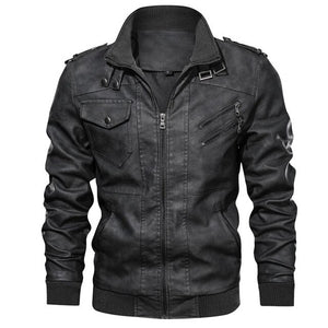 Men's Fashion Leather Jacket - Men & women apparel, Women's swimwear, men's shirts and tops, Women jumpsuits and rompers, women spring fashion
