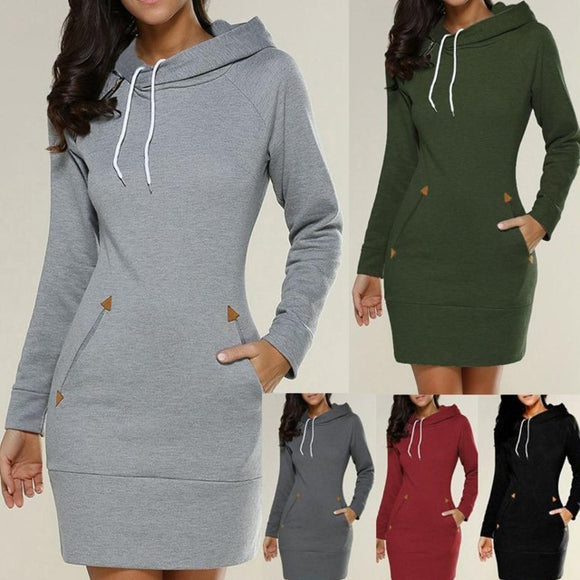 Spring Ready Sweatshirt Dress - Men & women apparel, Women's swimwear, men's shirts and tops, Women jumpsuits and rompers, women spring fashion