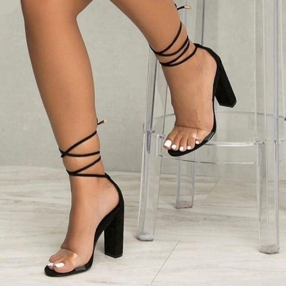 Ankle Strap High Heel Sandals - Men & women apparel, Women's swimwear, men's shirts and tops, Women jumpsuits and rompers, women spring fashion