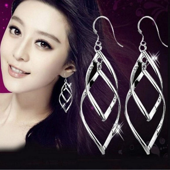 Rhombus Leaf Drop Earrings - Men & women apparel, Women's swimwear, men's shirts and tops, Women jumpsuits and rompers, women spring fashion