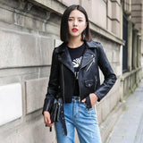 Women's Leather Motorcycle Jacket - Men & women apparel, Women's swimwear, men's shirts and tops, Women jumpsuits and rompers, women spring fashion