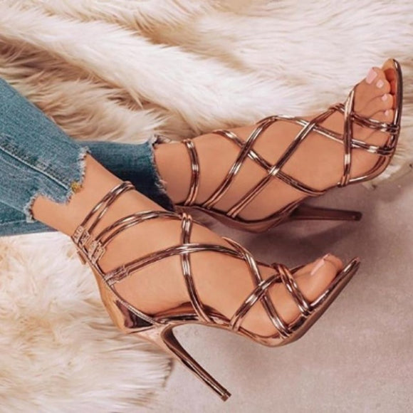 Thin Strap High Heel Gladiator Sandals - Men & women apparel, Women's swimwear, men's shirts and tops, Women jumpsuits and rompers, women spring fashion