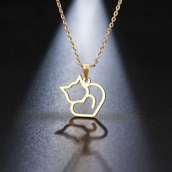 Cat Pendant Necklace - Men & women apparel, Women's swimwear, men's shirts and tops, Women jumpsuits and rompers, women spring fashion