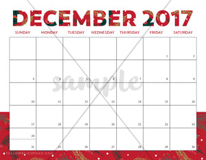 2017 Christmas Planner (A5 Planner Size)