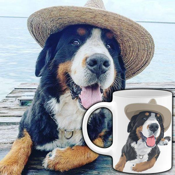 Custom Pet Portrait Mug mug North Legends