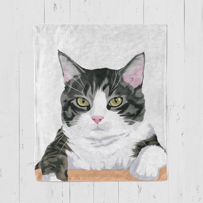 Custom Pet Blanket Home North Legends Small 30 x 40'' white