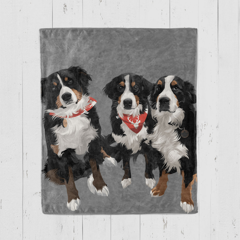 Custom Pet Blanket Home North Legends Small 30 x 40'' Grey