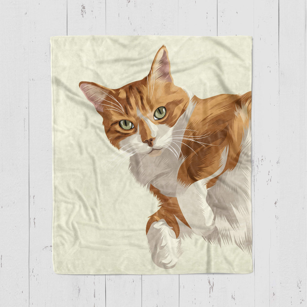 Custom Pet Blanket Home North Legends Small 30 x 40'' Beige