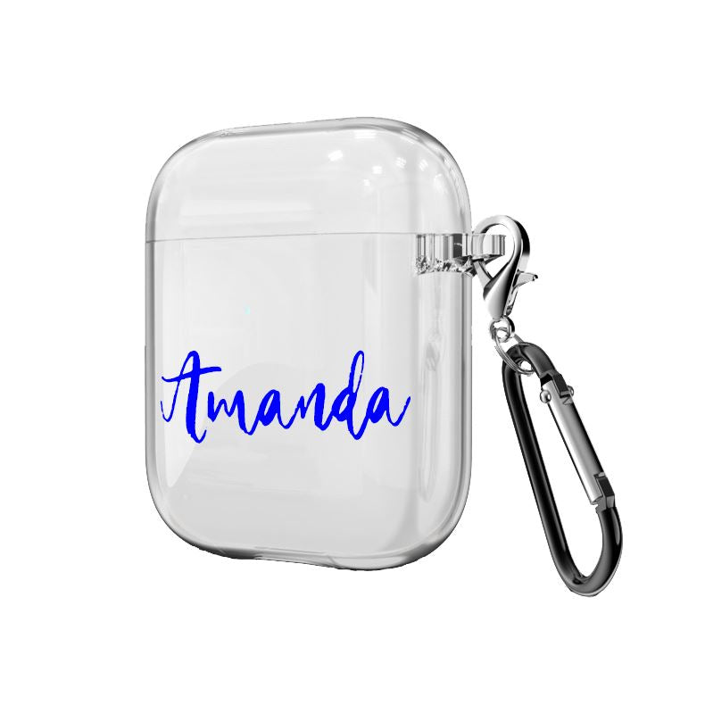 Personalized AirPods Case Home North Legends Blue Airpods 1/2