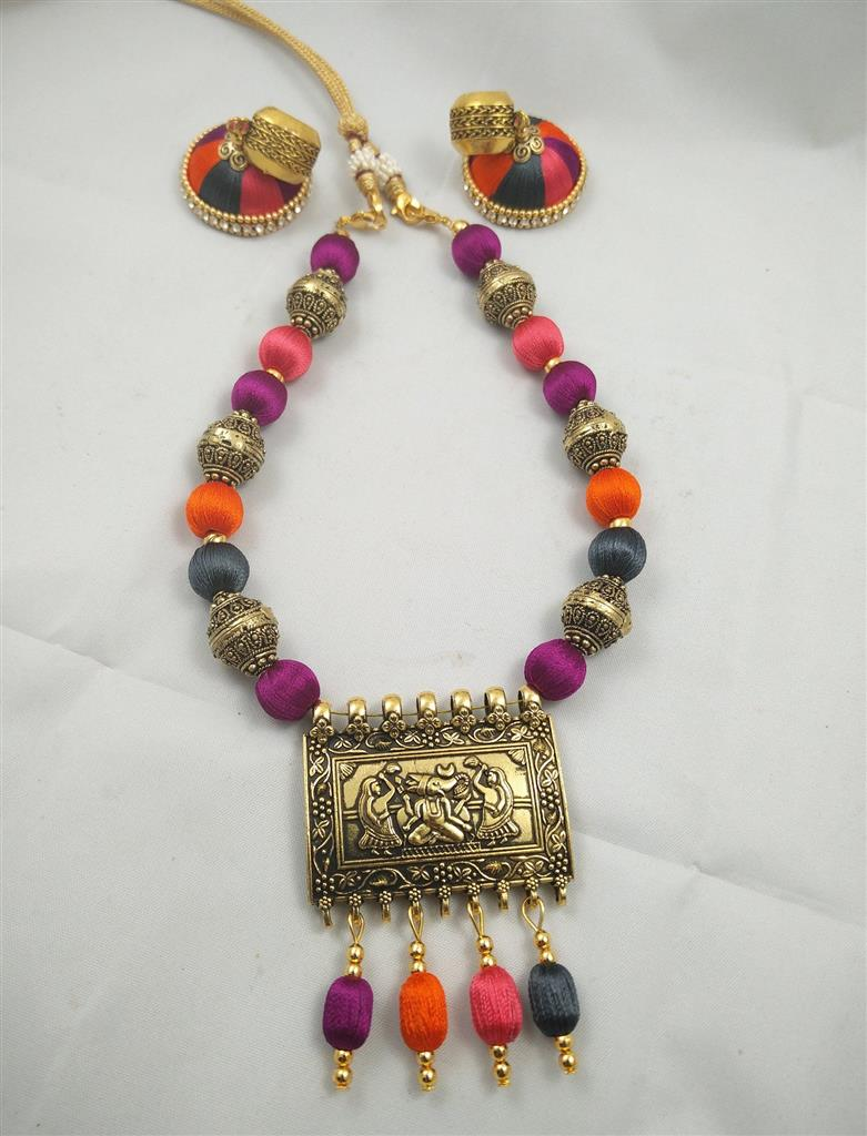 silk thread jewellery online shopping