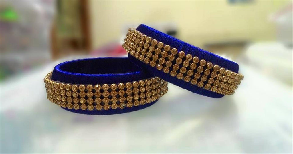 Silk Thread Bangles Set
