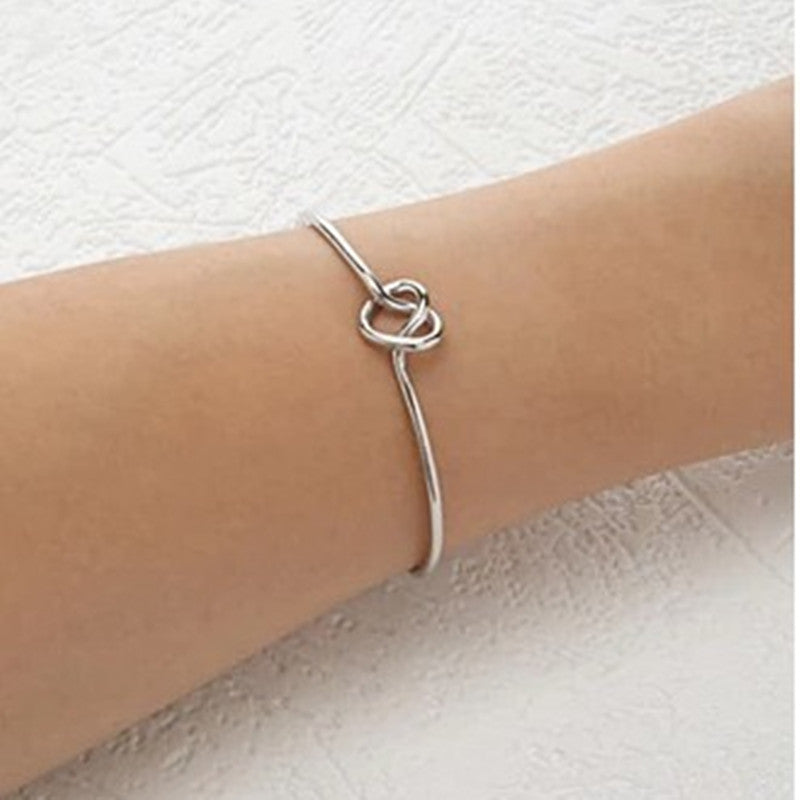 Simple Pure Copper Casting Love Bangles for Women