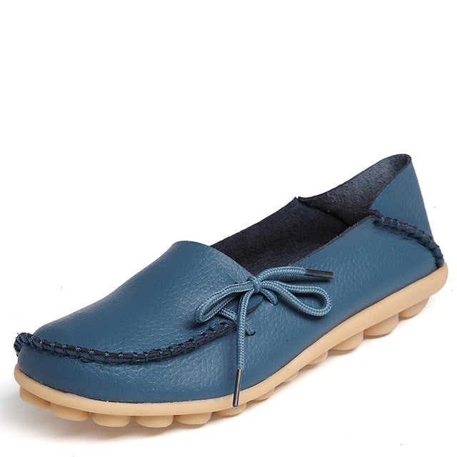 Women Real Leather Shoes Soft Leisure Flats Female Driving Casual Footwear
