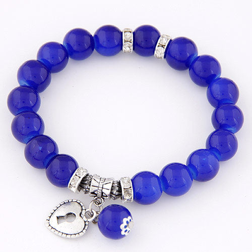Blue beads bracelets for women