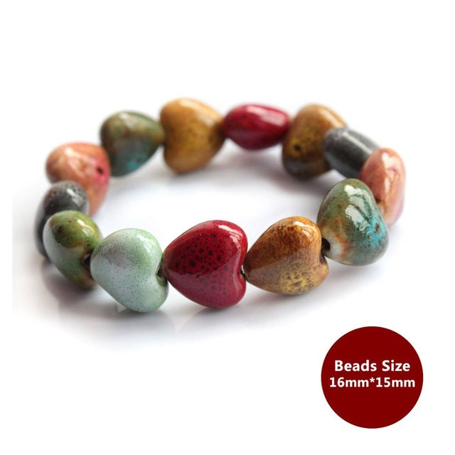 Heart Love Beads Bracelets for Women