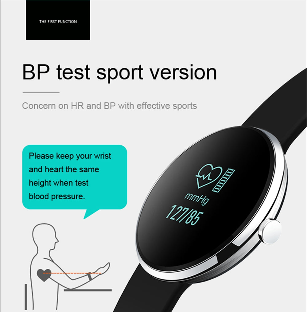 Fitness Tracker Smart Bracelet Wristband Heart Rate Bluetooth  Blood Pressure Monitor Smartband Watch for IOS Android