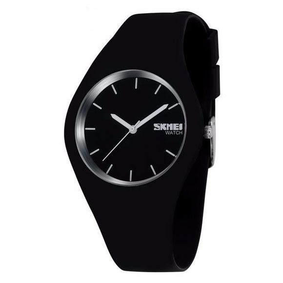 Fashion Casual Quartz Watches for Men and Women Silicone Waterproof Sport Wristwatches