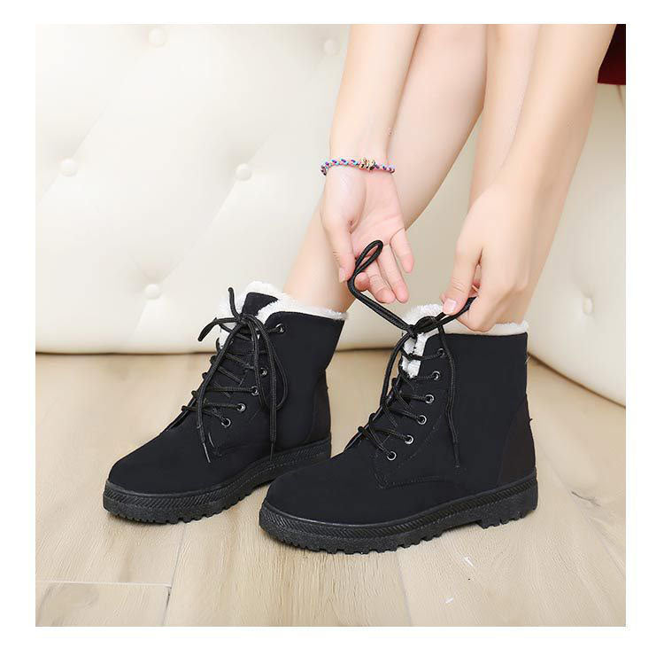 Fur Ankle Winter Boots For Women Winter Shoes Botas Mujer Bota Feminina cd9c15886f