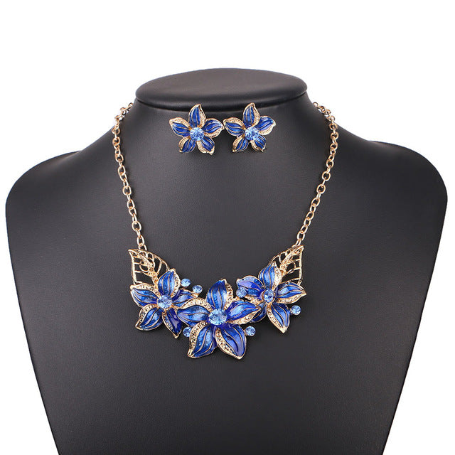 Blue Statement Necklaces For Women
