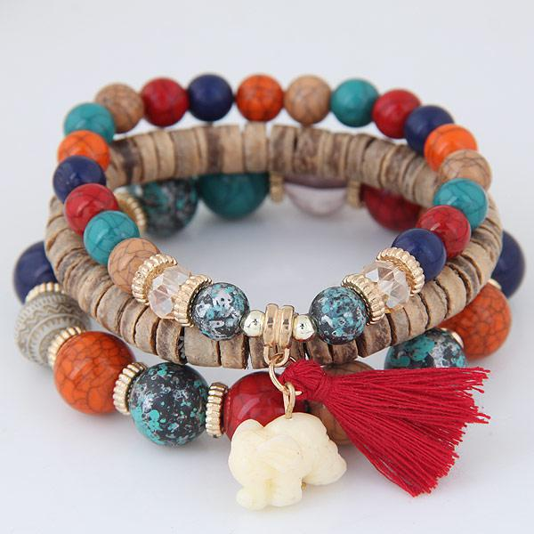 Red beads bracelets for women