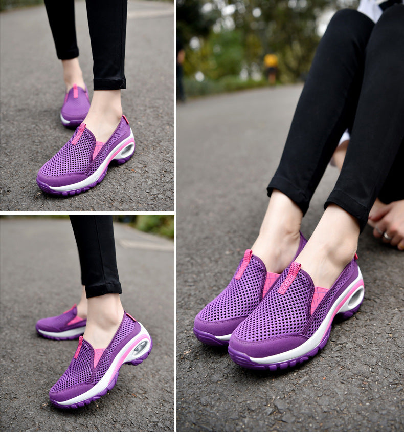 Outdoor Sports Shoes Air Cushion Non Slip Running Shoes for Women