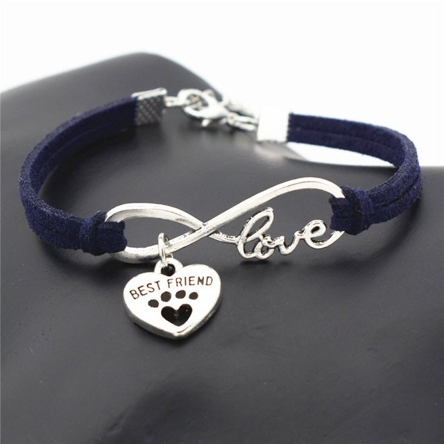 Dark Blue leather bracelets for women