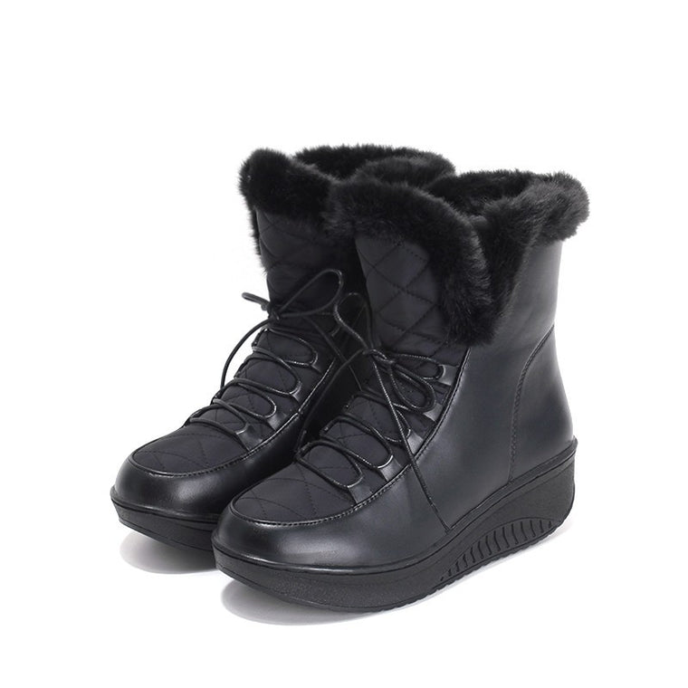 Black winter boots for women