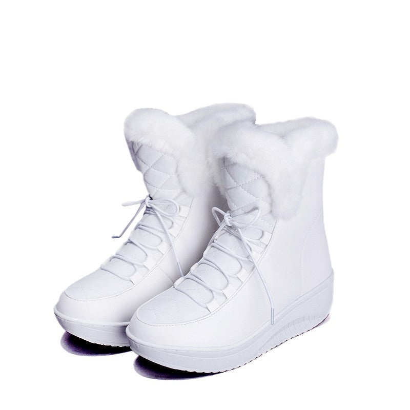 White winter boots for women