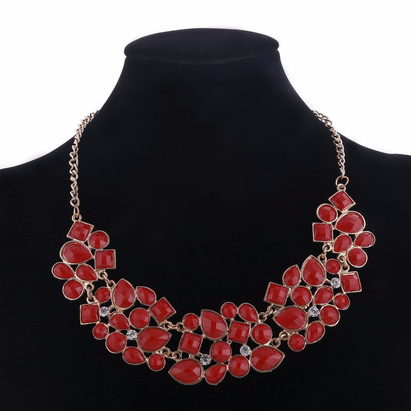 Stones Luxury Chain Statement Necklace For Women