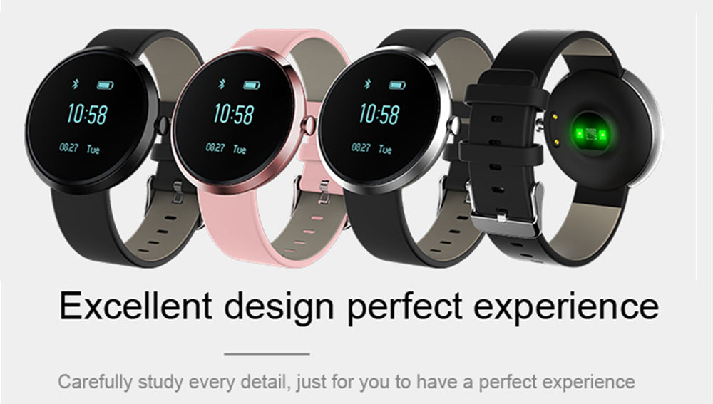 Smart Watch For iOS Android Bluetooth Heart Rate Monitor  Fitness Tracker  Blood Pressure Passometer Bracelet Watch