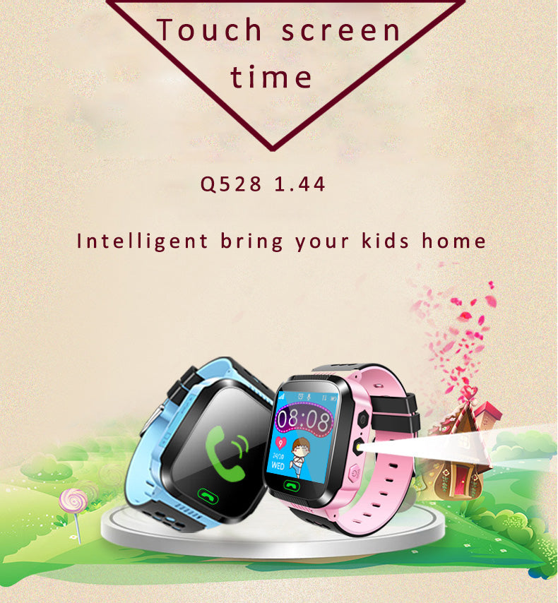 Child Smart Watch Touch Screen SOS Call Remote Camera Monitor  Flashlight Watch Smart GPS Real-time Tracker For Kids