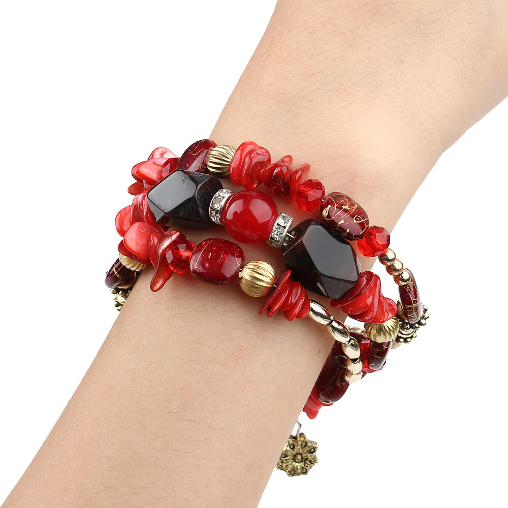 Red bracelets for women