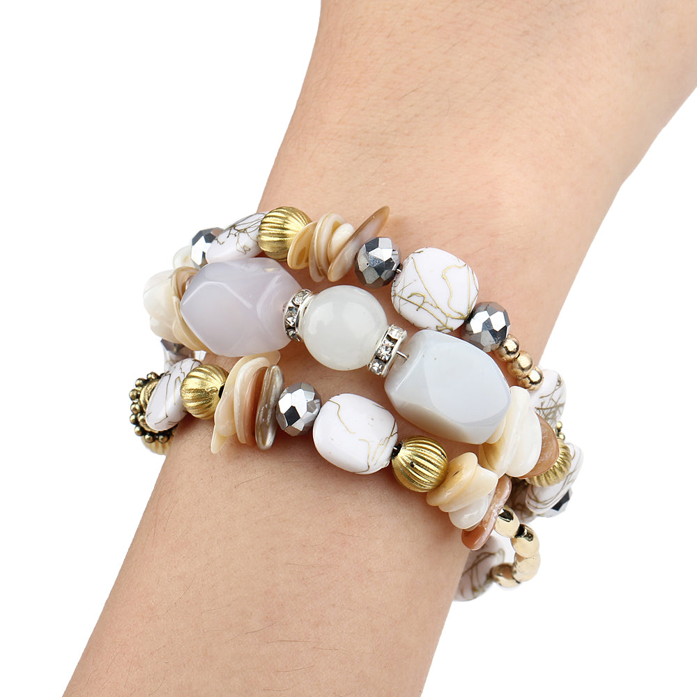 White bracelets for women