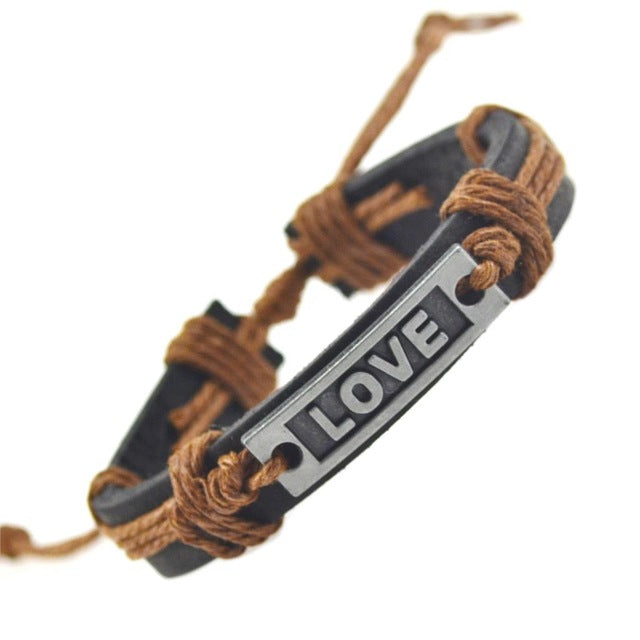 Love leather bracelets for women with yellow ragi