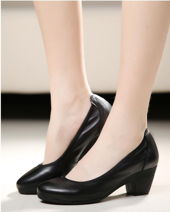 Soft Genuine Leather Womens Shoes Business Casual Shoes for Women