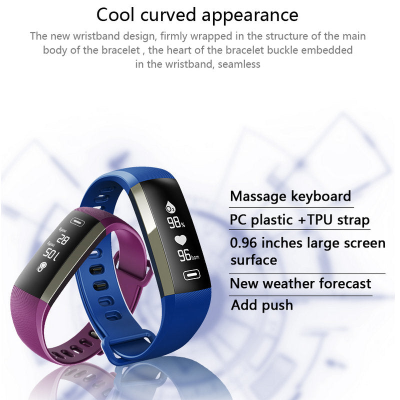 Smart Watch Heart Rate Monitor Blood Pressure Fitness Bracelet Watch