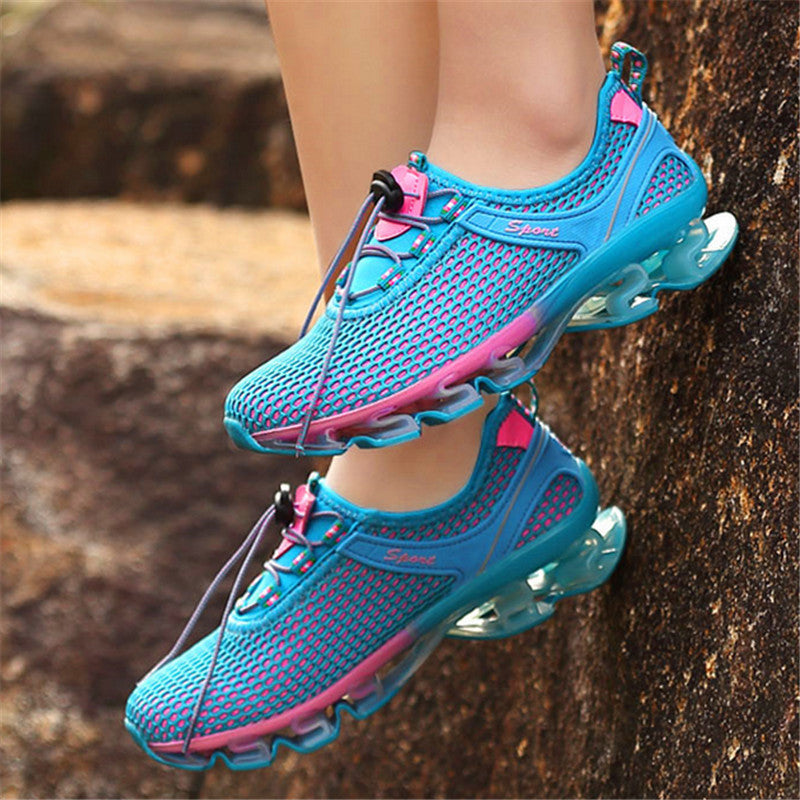 Komag Outdoor Jogging Running Walking Sport Air Max Shoes For Women Blue And Pink