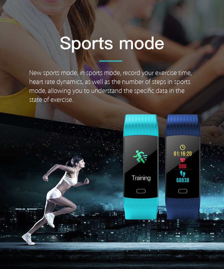 Fitness Tracker Smart Watch Color Screen Heart Rate Activity Tracker iOS Android
