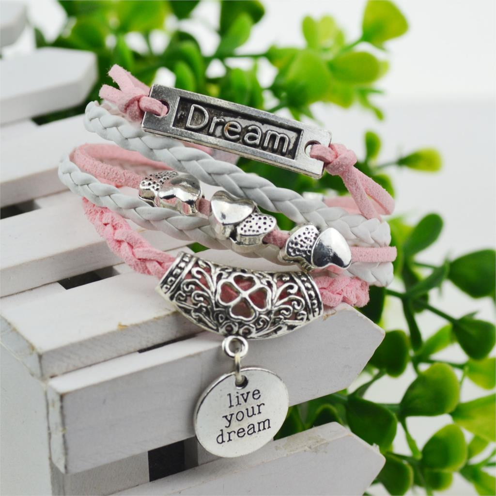 Buy pink leather bracelets for women, a great gift for being loved. Buy the pink leather bracelets for women from Bomosi.