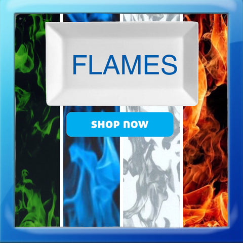 SMOKE, FIRE, FLAMES HYDROGRAPHIC FILM