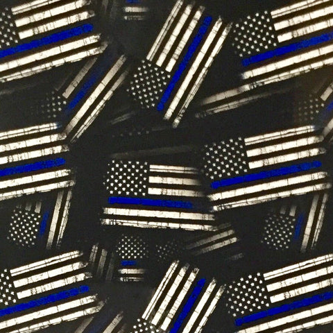 THIN BLUE LINE FLAGS POLICE AMERICAN HYDROGRAPHIC FILM