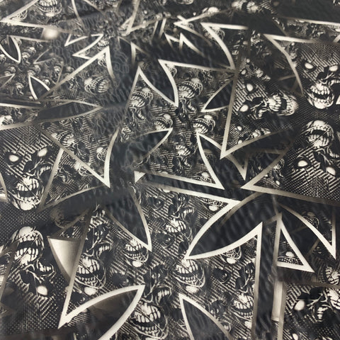IRON CROSS TEMPLAR CARBON SKULLS HYDROGRAPHIC FILM  - EXCLUSIVE